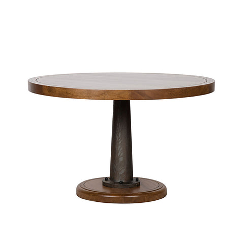 Noir - Yacht Dining Table, W/Cast Pedestal