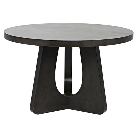 "Noir - Nobuko Dining Table, 48"", Pale"