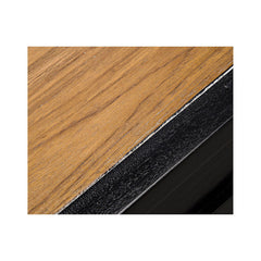 Noir - Manolo Dining Table, Hand Rubbed Black with Natural Top