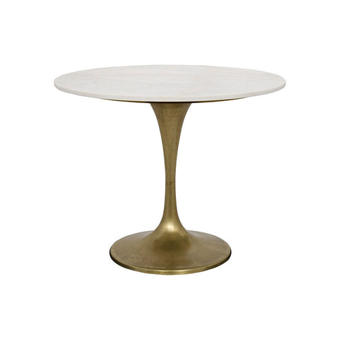 "Noir - Laredo Table, 36"", Metal and Quartz"