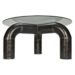 Noir - Parsifal Dining Table w/Metal Base