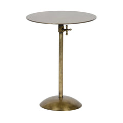 Noir - Felix Side Table, Metal w/Brass Finish