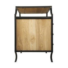Noir - Provence Side Table, Elm W/ Metal