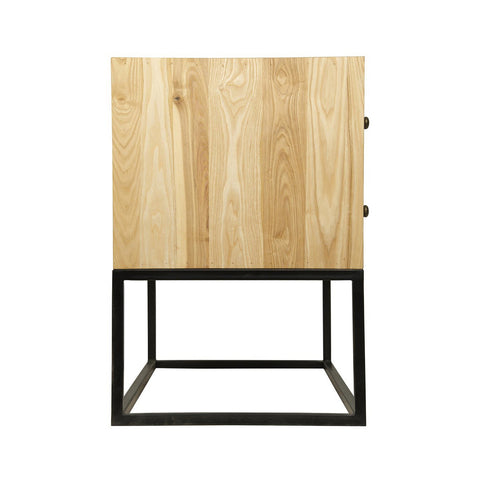 Noir - Downtown Side Table, Elm W/Metal