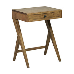 Noir - Peter Side Table, Dark Walnut