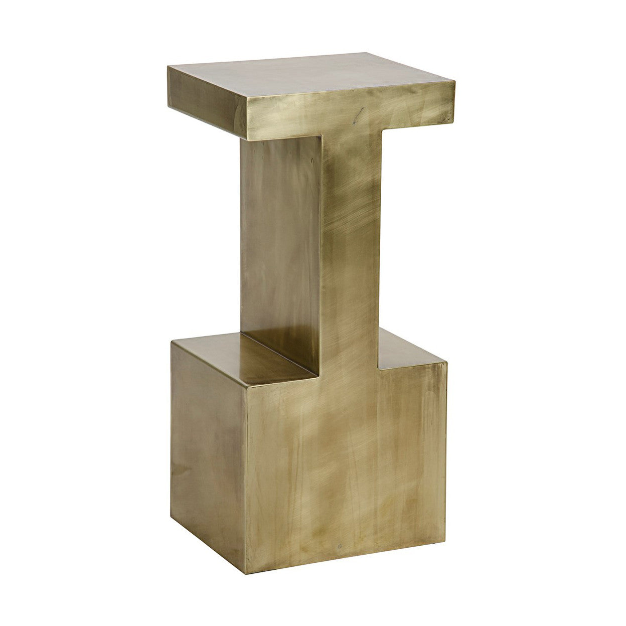 Noir - Elmas Side Table, Large, Antique Brass