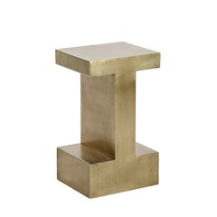Noir - Elmas Side Table, Small, Antique Brass