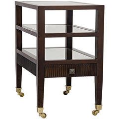 Noir - Lesly Side Table, Distressed Brown
