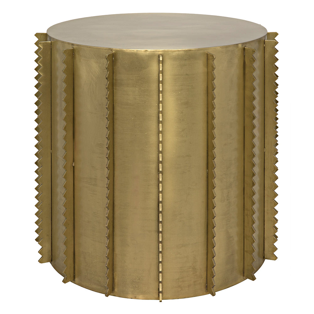 Noir Dita Side Table Antique Brass Finish LDC Home - Brushed brass side table
