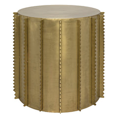 Noir - Dita Side Table, Antique Brass Finish