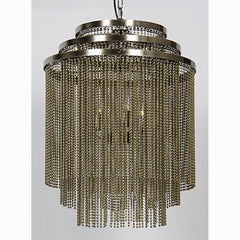 Noir - Veil Chandelier, Antique Brass Finish