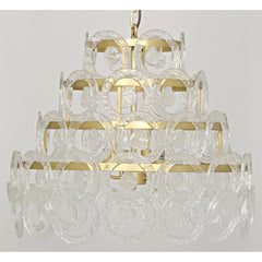 Noir - Conley Chandelier, Antique Brass, Metal and Glass
