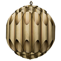 Noir - Globular Chandelier, Metal w/ Brass
