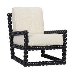 Noir - Lorde Lounge Chair, Hand Rubbed Black
