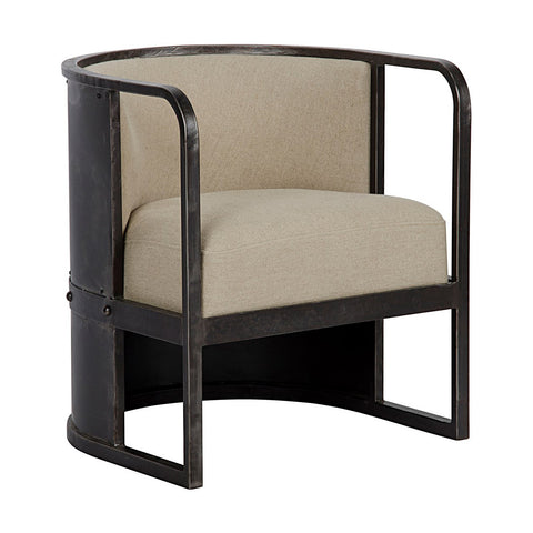 Noir - Joseph Chair W/Metal
