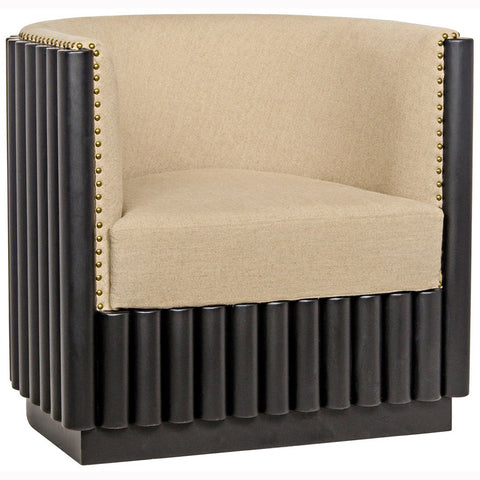 Noir - Duke Chair, Hand Rubbed Black