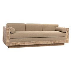 Noir - Brutalist Sofa, Washed Walnut