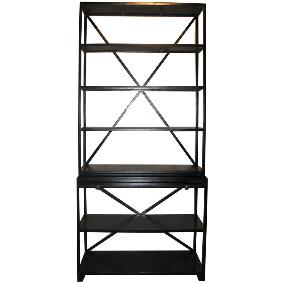 Noir - Sutton Bookcase, Hand Rubbed Black