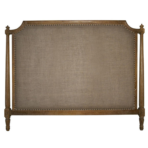 Noir - Isabelle Headboard, CA King, Grey Wash