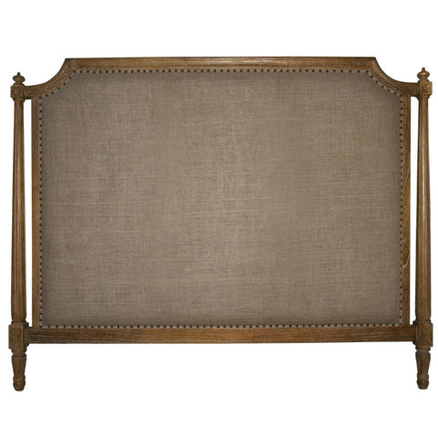 Noir - Isabelle Headboard, Eastern King, Grey Wash
