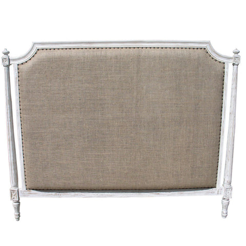 Noir - Isabelle Headboard, Eastern King, White Wash