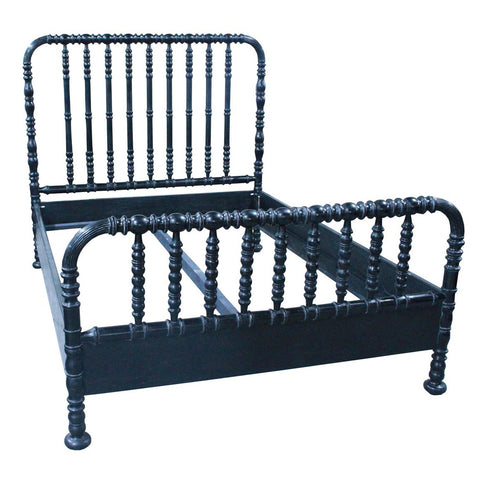 Noir - Bachelor Bed, Queen, Hand Rubbed Black
