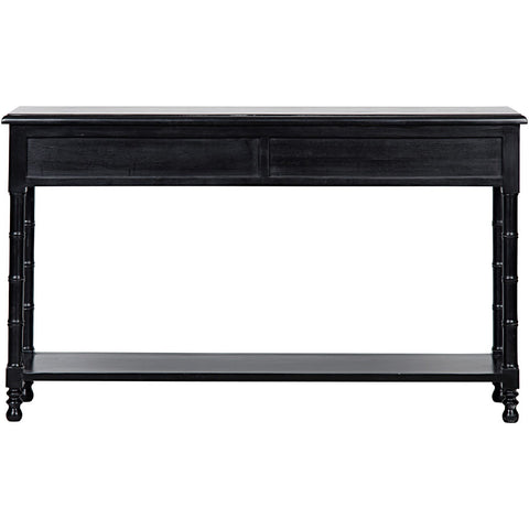 Noir - Bamboo Sofa Table, Hand Rubbed Black