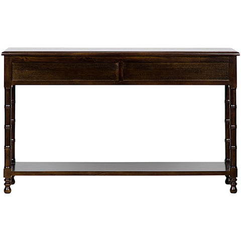 Noir - Bamboo Sofa Table, Hand Rubbed Brown