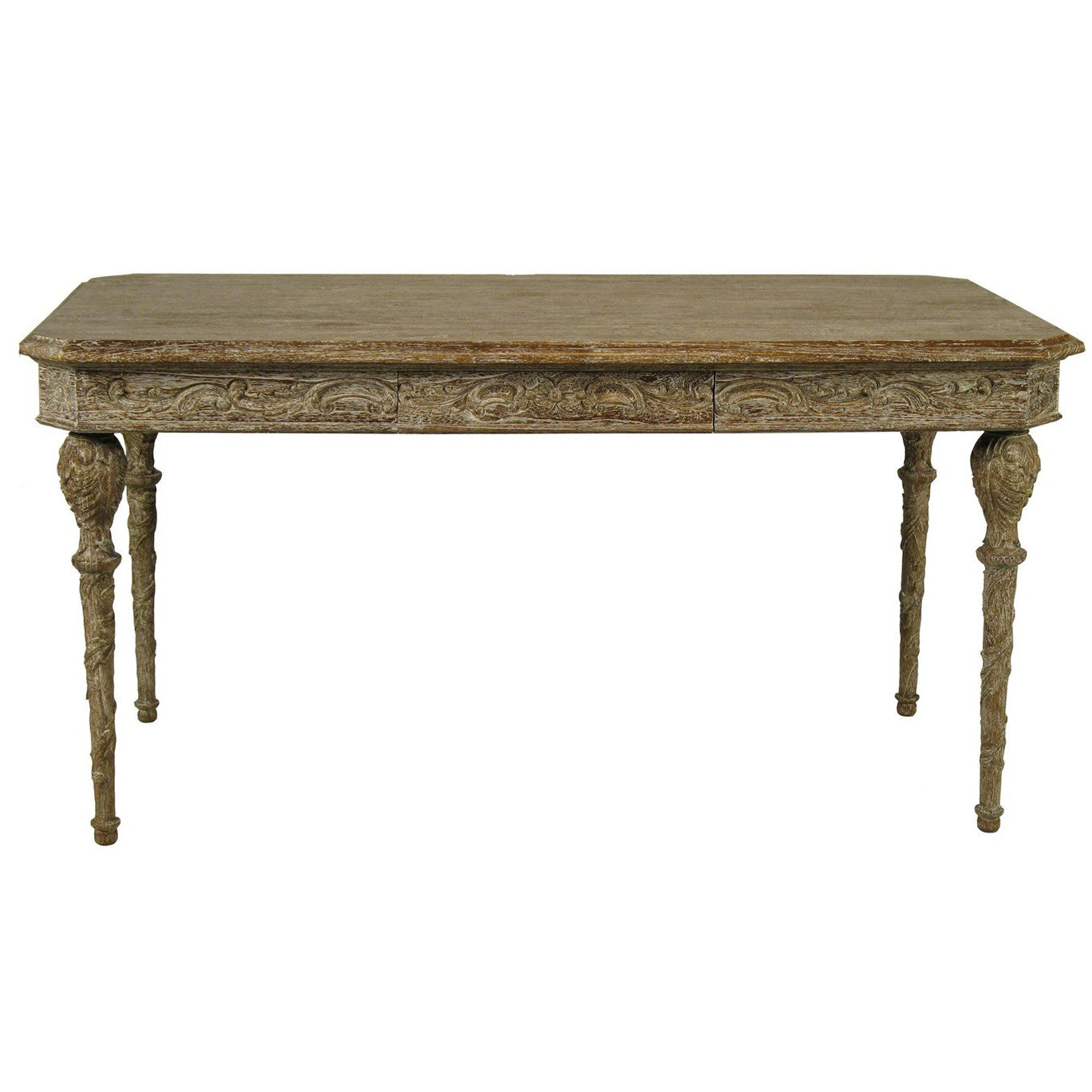 Noir - Paris Desk, Grey Wash