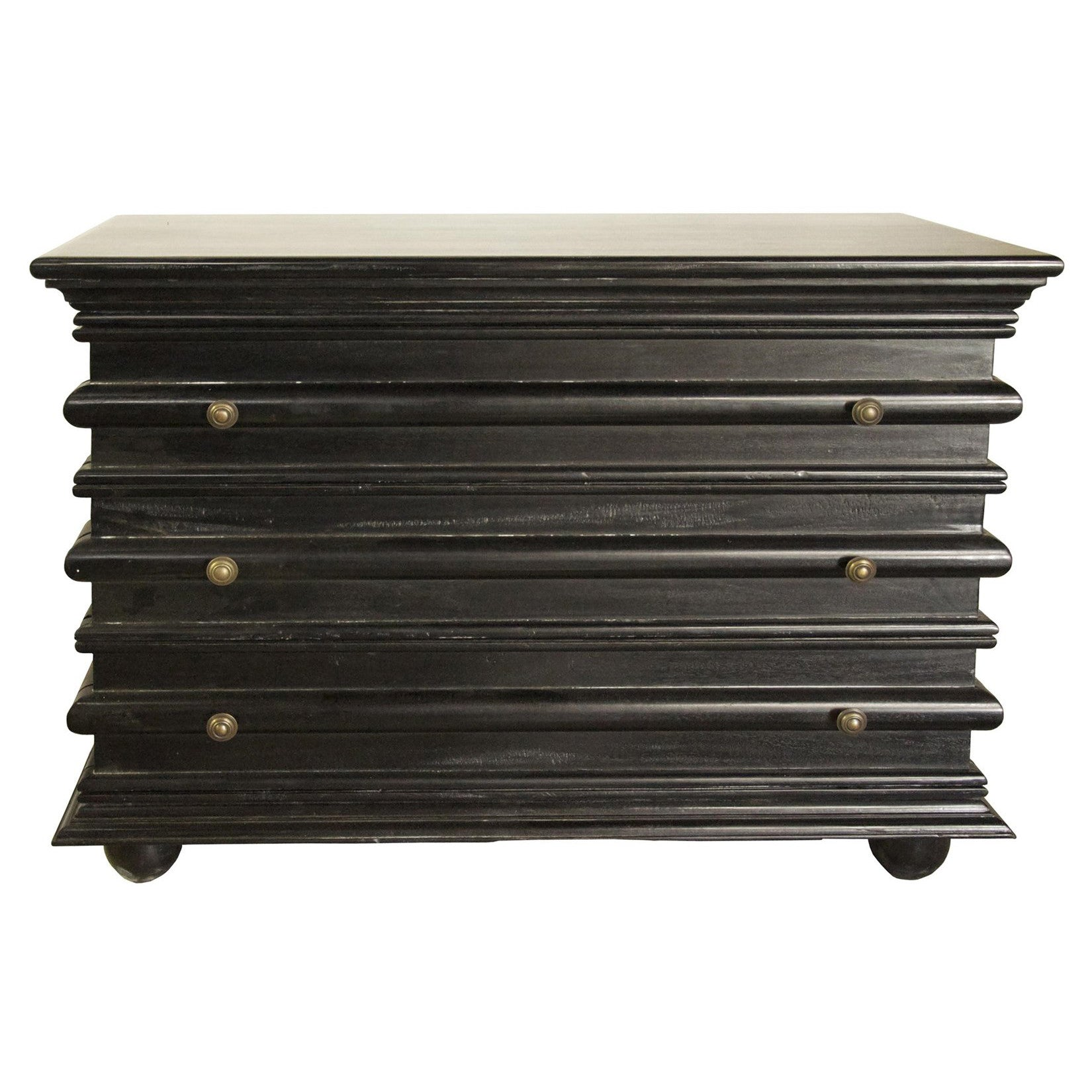 Noir - Ascona Small Chest, Hand Rubbed Black