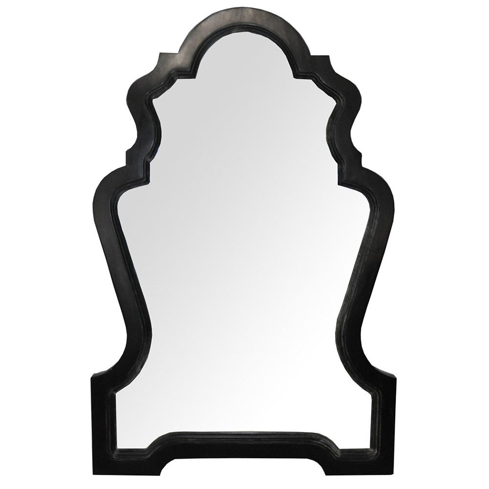 Noir - Chipendale Mirror, Hand Rubbed Black