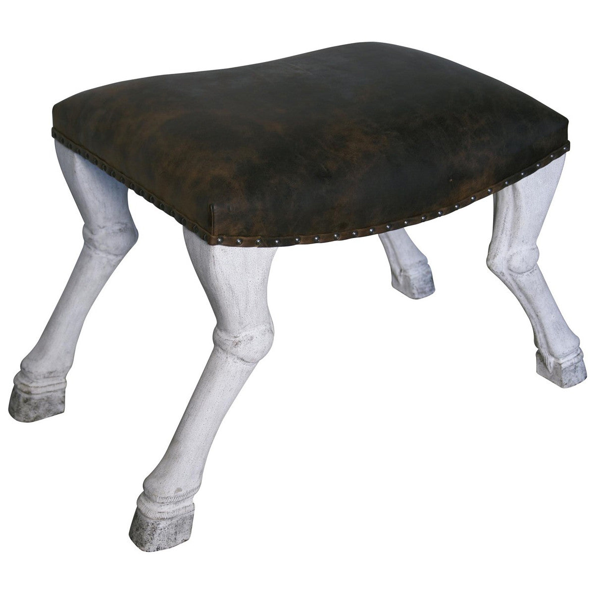 Noir - Claw Leg Saddle Stool