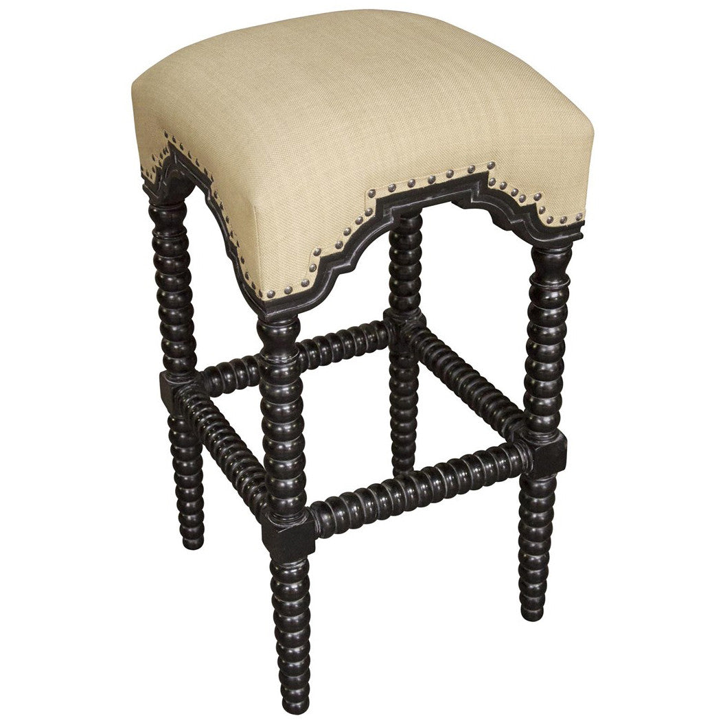 Noir - Abacus Barstool, Hand Rubbed Black