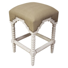 Noir - Abacus Counter Stool, White Wash