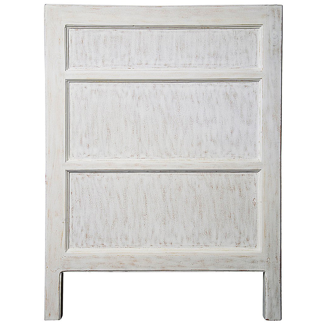 Noir - Hampton 3 Drawer Night Stand, White Wash