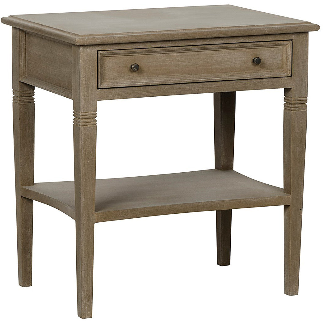 Noir - Oxford 1 Drawer Side Table, Weathered