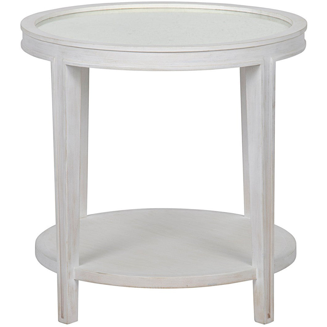 Noir - Imperial Side Table, White Wash