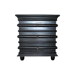 Noir - Ascona Side Table, Hand Rubbed Black