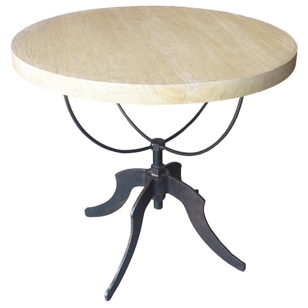 Noir - Wine Table w/ Adjustable Metal Base