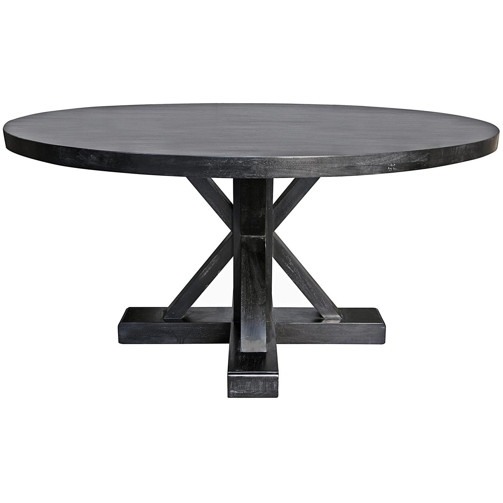 Noir - Criss-Cross Round Table, Black