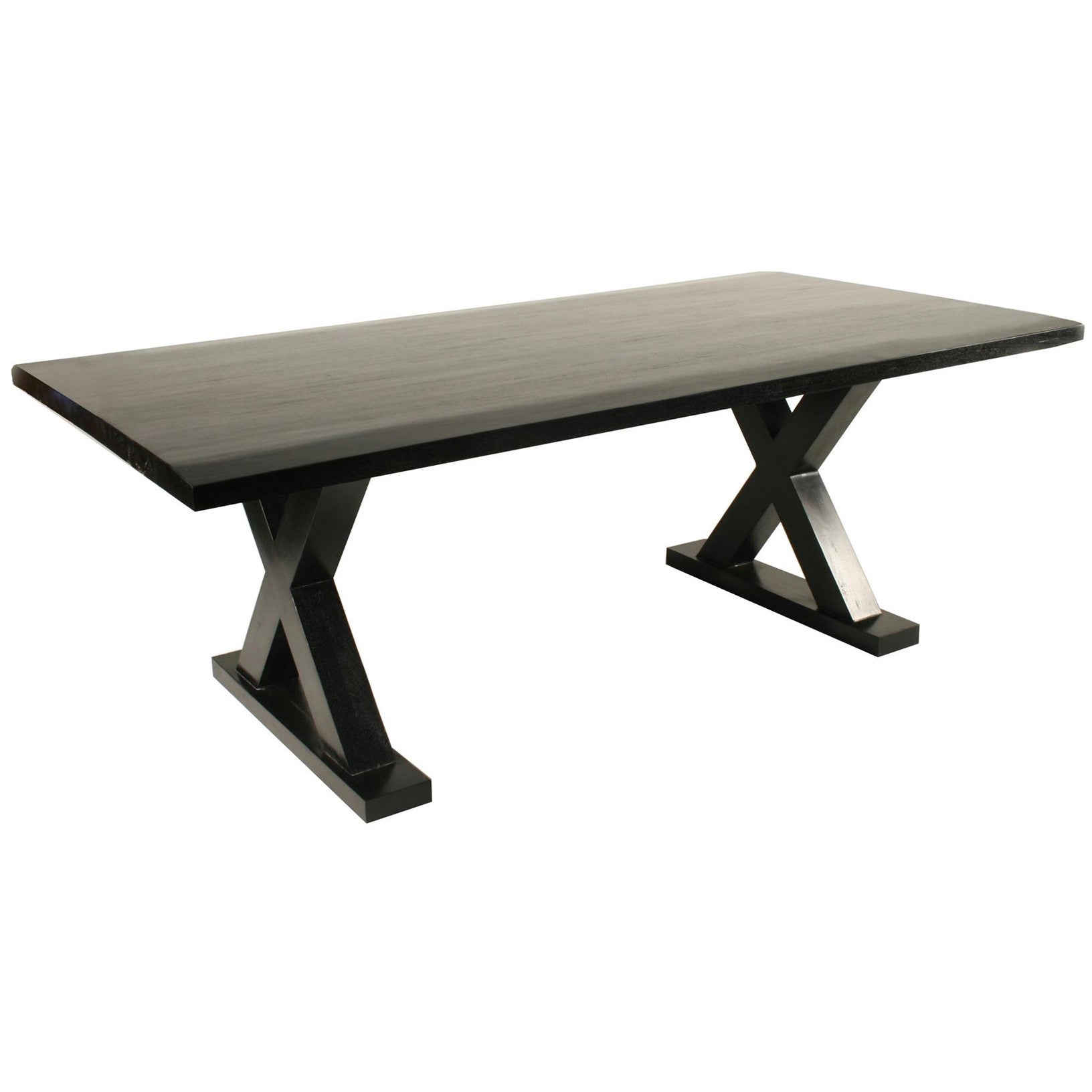 Noir - X Dining Table, Hand Rubbed Black