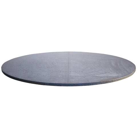 Noir - Curlin Dining Table w/ Hammered Zinc Top