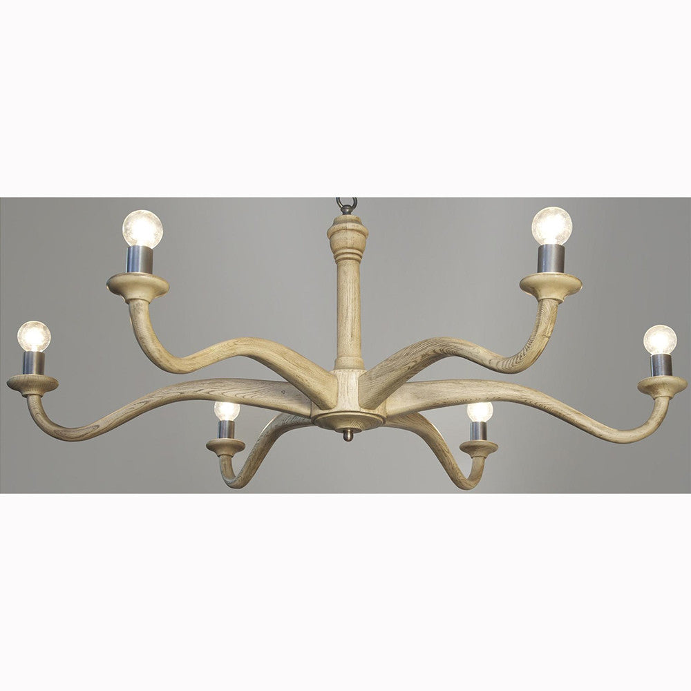 Noir - Wave Chandelier, Vintage Grey