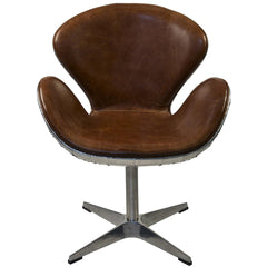 Noir - Leather Chair Half Aluminum