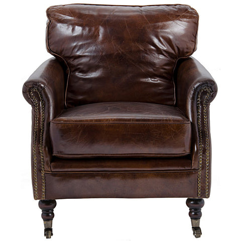 Noir - Club Chair, Vintage Cigar Leather 916
