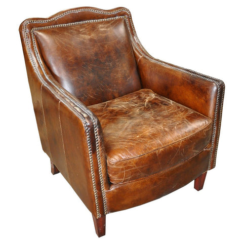 Noir - Club Chair, Vintage Cigar Leather 973