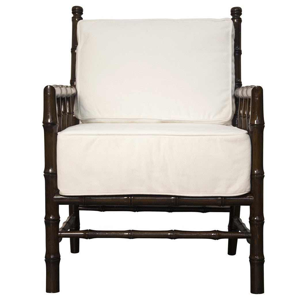 Noir - Bamboo Relax Chair, Distressed Brown