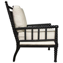 Noir - Abacus Relax Chair, Distressed Black
