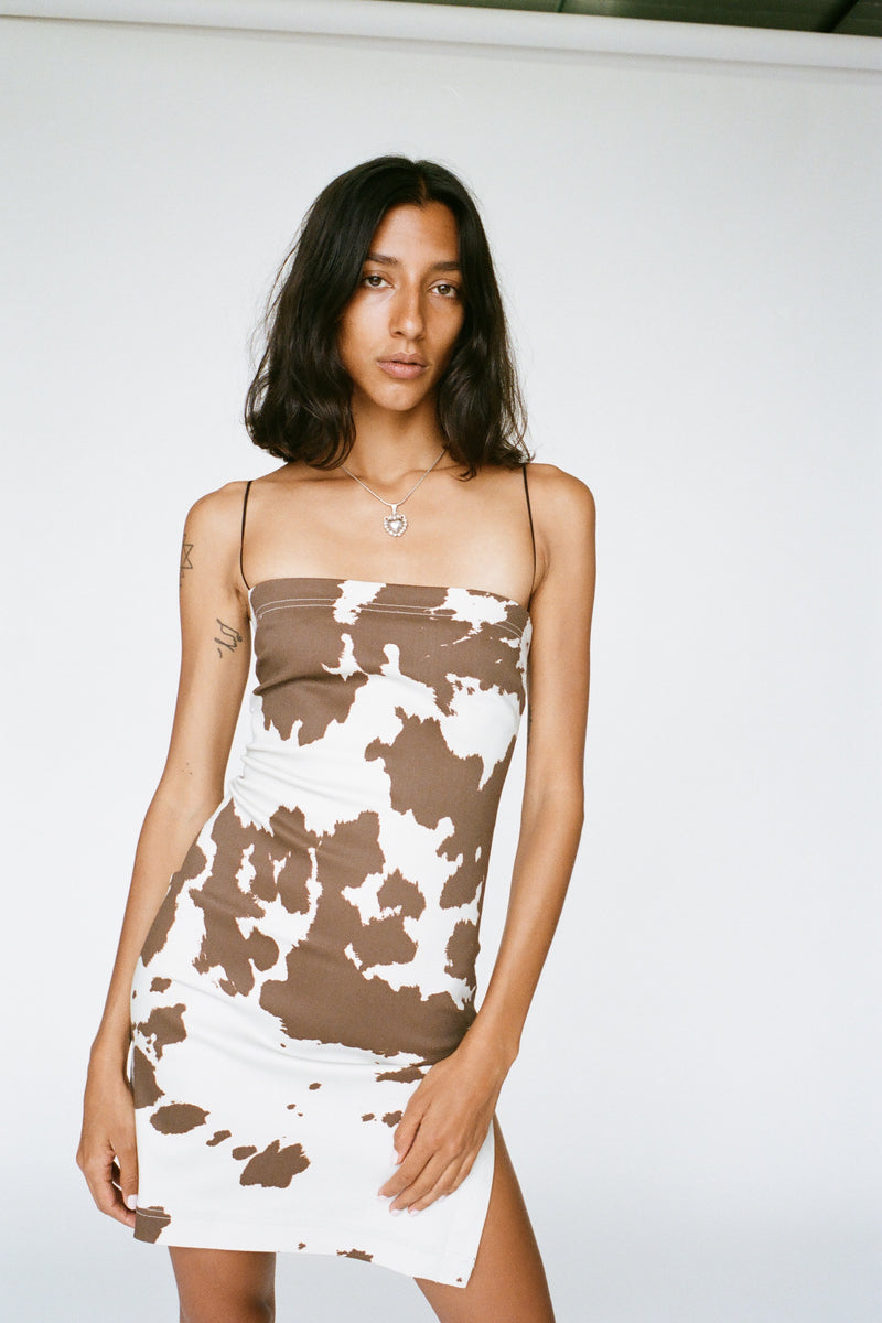 LOTTE DRESS - COW PRINT