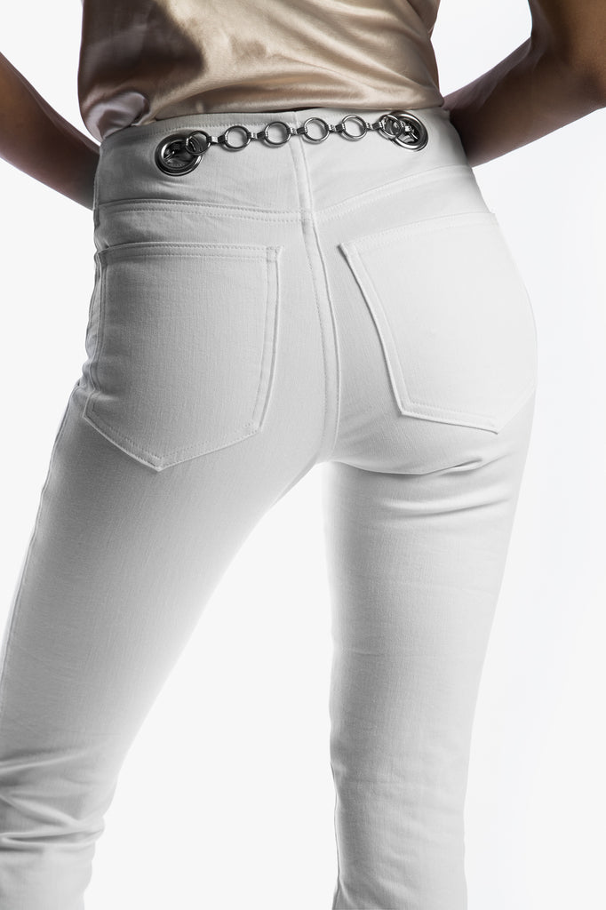 Brigitte Jean in White - Best Skinny Jeans for All Body Types, From Petite to Plus Size